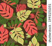 seamless natural floral pattern ...   Shutterstock .eps vector #1993151051