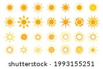 funny vector doodle suns. hand...   Shutterstock .eps vector #1993155251