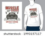 muscle classic genuine parts... | Shutterstock .eps vector #1993157117