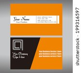 business card design in vector... | Shutterstock .eps vector #199316597