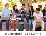 high school students... | Shutterstock . vector #199317449