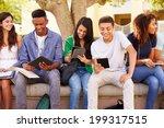 high school students... | Shutterstock . vector #199317515