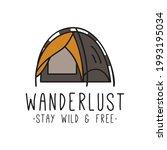 vector sticker of camping tent   Shutterstock .eps vector #1993195034