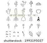set of linear icons of trees....   Shutterstock .eps vector #1993195037