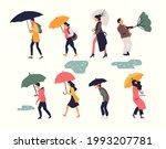 set of abstract people walking... | Shutterstock .eps vector #1993207781