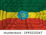 Ethiopia Flag On Background...