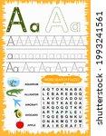 educational worksheet for...   Shutterstock .eps vector #1993241561