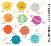 cute planet solar system....   Shutterstock .eps vector #1993258601
