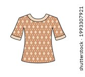 t shirt with brown luxury brand ... | Shutterstock .eps vector #1993307921