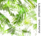 abstract green vector palm tree.... | Shutterstock .eps vector #1993309871