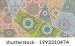 vector patchwork quilt pattern. ... | Shutterstock .eps vector #1993310474