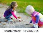 two little sisters having fun... | Shutterstock . vector #199332215