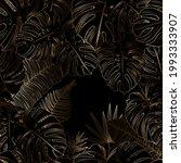 golden  tropical leaves on a...   Shutterstock .eps vector #1993333907