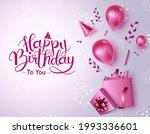 happy birthday vector banner... | Shutterstock .eps vector #1993336601