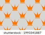 crown seamless pattern vector... | Shutterstock .eps vector #1993341887