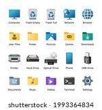 computer desktop icons pack....   Shutterstock .eps vector #1993364834