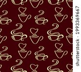 coffee or tea cup seamless... | Shutterstock .eps vector #1993369667