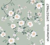 seamless vector flower design... | Shutterstock .eps vector #1993379867