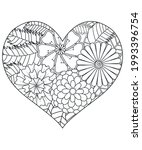 heart with floral pattern.... | Shutterstock .eps vector #1993396754