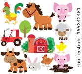 farm animal illustration | Shutterstock .eps vector #199342481