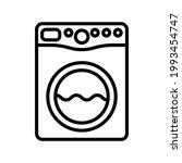laundry service washing machine ... | Shutterstock .eps vector #1993454747