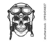 aviator skull in aviators...   Shutterstock .eps vector #1993454837