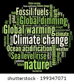 climate change in word collage | Shutterstock . vector #199347071