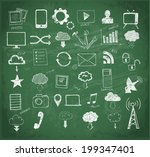 cloud computing sketch.  vector ... | Shutterstock .eps vector #199347401