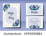 wedding invitation watercolor...   Shutterstock .eps vector #1993500881