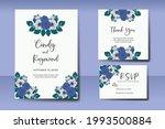 wedding invitation watercolor...   Shutterstock .eps vector #1993500884