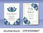 wedding invitation watercolor...   Shutterstock .eps vector #1993500887