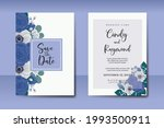 wedding invitation watercolor...   Shutterstock .eps vector #1993500911