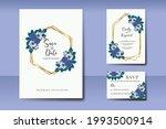 wedding invitation watercolor...   Shutterstock .eps vector #1993500914