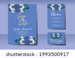 wedding invitation watercolor...   Shutterstock .eps vector #1993500917