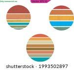 vintage sunset collection in... | Shutterstock .eps vector #1993502897