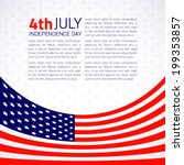 stylish american independence... | Shutterstock .eps vector #199353857