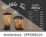 bubble milk tea  pearl milk tea ... | Shutterstock .eps vector #1993586114