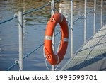 Lifebuoy On The Pier In The...