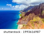 Aerial View Of The Na Pali...