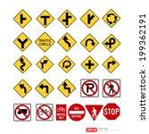 road sign vector format | Shutterstock .eps vector #199362191