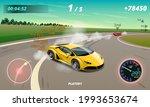 burnout car  game sport car...   Shutterstock .eps vector #1993653674