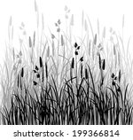 silhouettes of grass  hand... | Shutterstock .eps vector #199366814