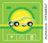modern hybrid auto electric car | Shutterstock .eps vector #1993688567