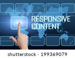 responsive content concept with ...