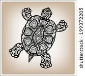 decorative black turtle  hand...   Shutterstock .eps vector #199372205
