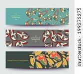 a set of modern vector web... | Shutterstock .eps vector #199373375