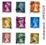 uk stamps | Shutterstock . vector #19937629