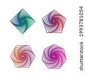 gradient lines ornament design. ...   Shutterstock .eps vector #1993781054