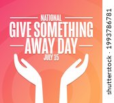 national give something away... | Shutterstock .eps vector #1993786781