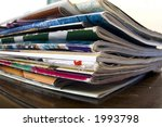 magazines on table | Shutterstock . vector #1993798